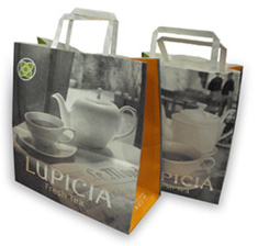 LUPICIA Tea paper bag packaging