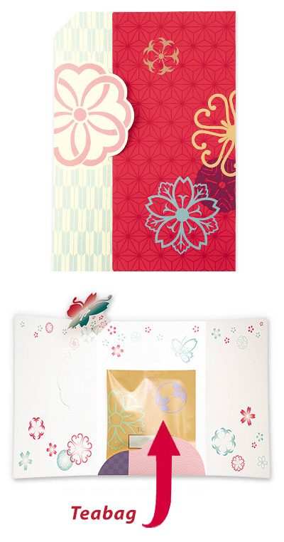Greeting Card with Tea Bag (Red)