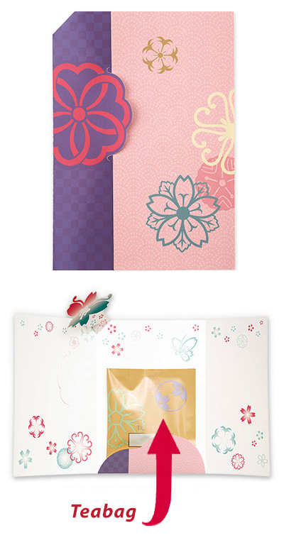 Greeting Card with Tea Bag (Pink)