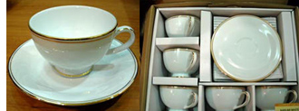 Narumi White Cup & Saucer