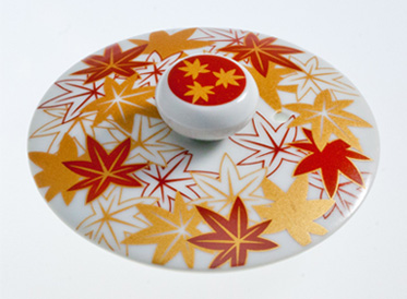 Porcelain Lid S Maple Leaf