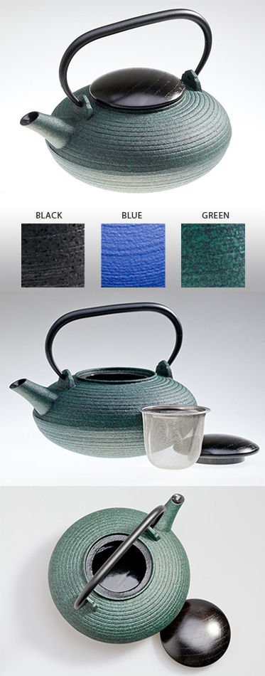 ITOME SW - Cast Iron Tea Pot With Wooden Lid