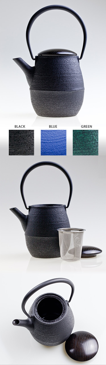 NATSUME SW - Cast Iron Tea Pot With Wooden Lid