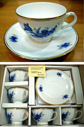 Narumi Blue Flower White Cup & Saucer